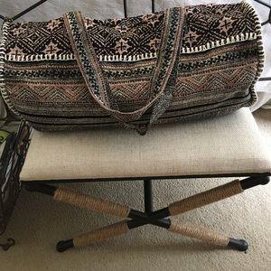 Woodcut duffel bag Anthropologie
